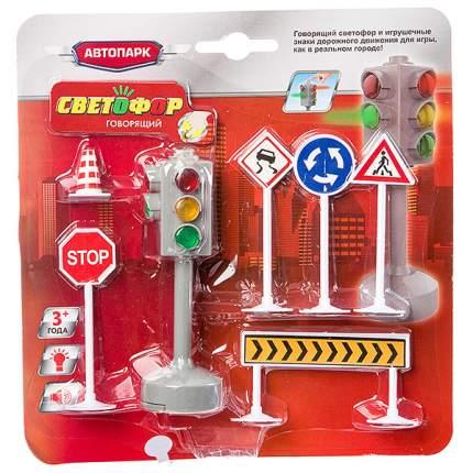 Игр. на бат. Говорящий светофор, серия Автопарк Play Smart, CRD 25,5x26,5x5  см, арт.7325.