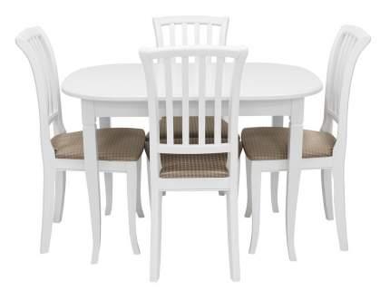 Обеденная группа Мебель Импэкс Обеденная группа Аризона+Остин белый, Жаккард Flora