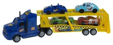 Автовоз в наборе с машинками ToyBola инерционный 6х31х14см