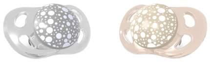 Пустышка Twistshake Pearl, цвет: шампань и серый, 2 штуки (small)
