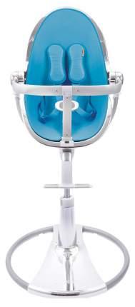 Стульчик для кормления BLOOM Fresco chrome SE серебро, вкладыш голубой