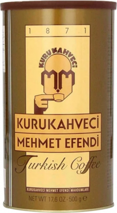 Кофе молотый Kurukahveci Mehmet Efendi жестяная банка 500 г