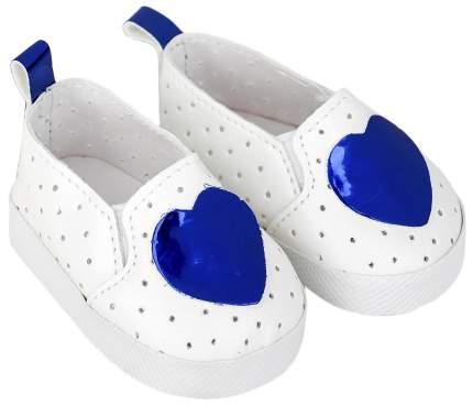 """Мокасины для куклы """"Сердечко"""", длина стопы 7 см, цвет синий Sima-Land"""