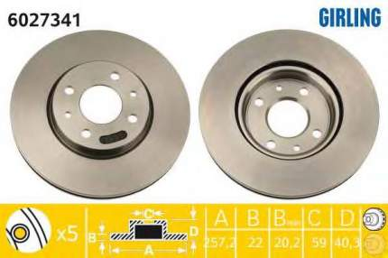 Тормозной диск GIRLING 6027341