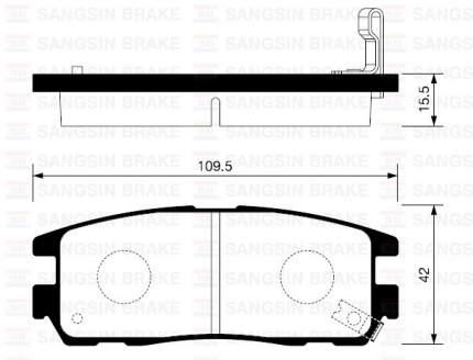 Комплект тормозных колодок Sangsin brake SP2089