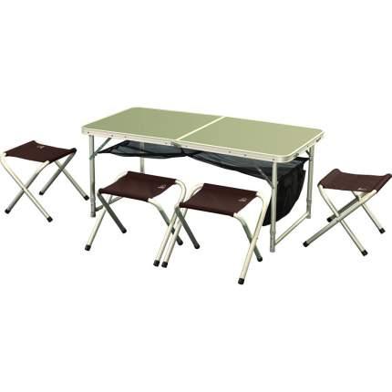 Набор складной мебели Greenell FTFS-1, коричневый