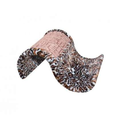 Когтеточка Зооник Волна из сизали с мехом, стандарт (52х46,5х21 см)