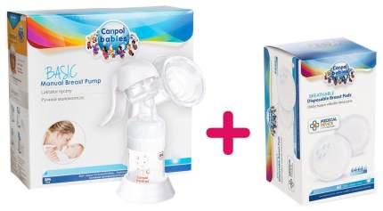 Молокоотсос ручной Canpol Basic №7 и вкладыши для груди