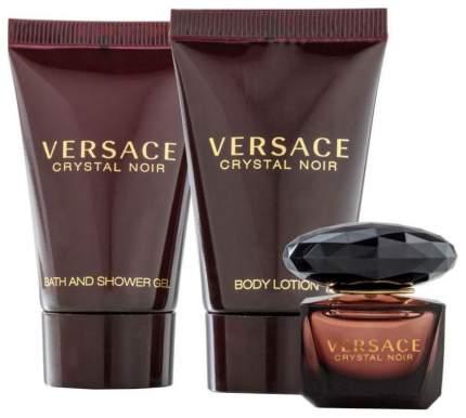 Набор Versace Crystal Noir Туалетная вода + лосьон для тела + гель для душа 50+50+50 мл