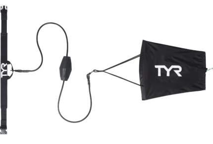 Тормозной пояс с парашютом для плавания TYR Riptide Drag Chute LDRAGCH черный