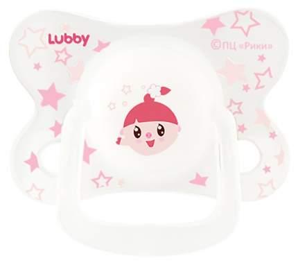 Cоска-пустышка LUBBY Малышарики от 6-18 мес розовый
