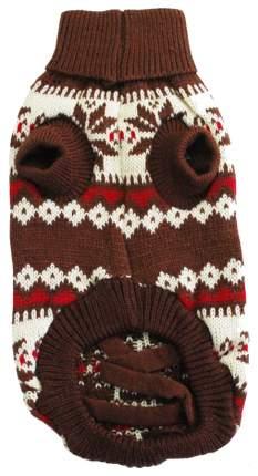 Свитер для собак Уют размер M унисекс, коричневый, длина спины 30 см