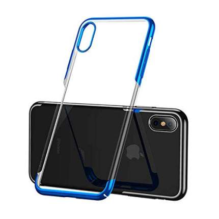 Чехол Baseus Glitter Case (WIAPIPH65-DW03) для iPhone Xs Max (Blue)