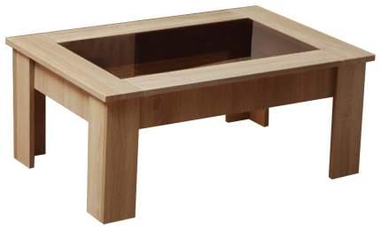 Журнальный столик Олимп-мебель Маджеста-8 90х60х35,5 см, дуб сонома/коричневое стекло
