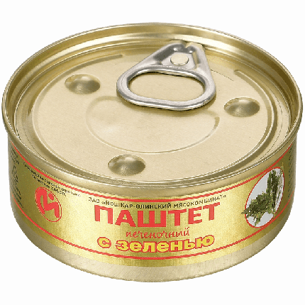 Консервы мясные ЙОМ паштет печеночный с зеленью №1 100 г