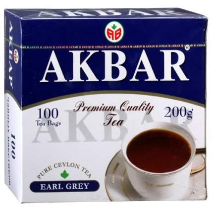 Чай черный Akbar earl grey 100 пакетиков