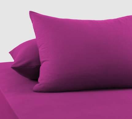 Наволочки трикотажные (фиолетовые) 70х70