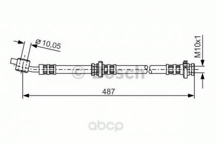 Шланг тормозной системы Bosch 1987476135 передний правый