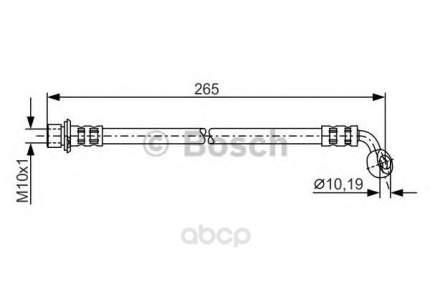 Шланг тормозной системы Bosch 1987481127 задний левый