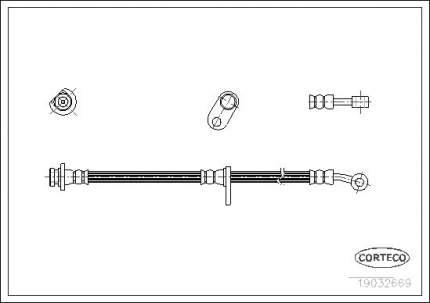 Шланг тормозной CORTECO 19032669