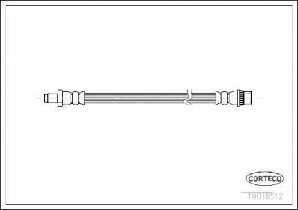 Шланг тормозной CORTECO 19018512