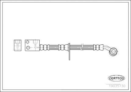 Шланг тормозной системы CORTECO 19035730