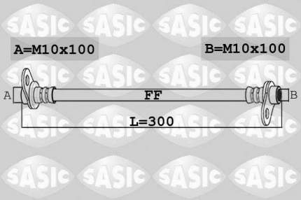 Шланг тормозной SASIC 6600062