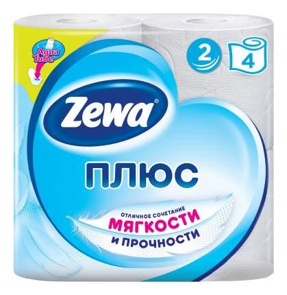 Туалетная бумага Zewa Плюс Белая, 2 слоя, 4 рулона