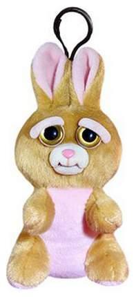 Мягкая игрушка Abtoys Заяц коричневый Feisty Pets 11 см с карабином