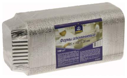 Набор одноразовых подносов Horeca Select 125х100х36 мм, 100шт,  Серебристый