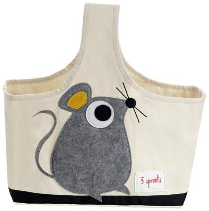 Корзина для хранения игрушек 3 Sprouts Grey Mouse