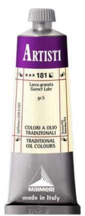 Масляная краска Maimeri Artisti 181 гранатовый лак 60 мл