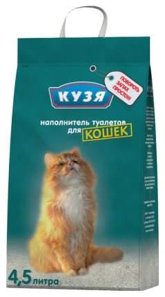 Впитывающий наполнитель туалета для кошек Кузя, 4,5 л, 4 шт.