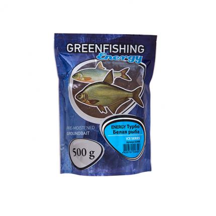 Прикормка зимняя готовая Green Fishing Energy Турбо Белая рыба 0,5 кг