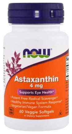 Для зрения NOW Astaxanthin 4 мг 60 капсул