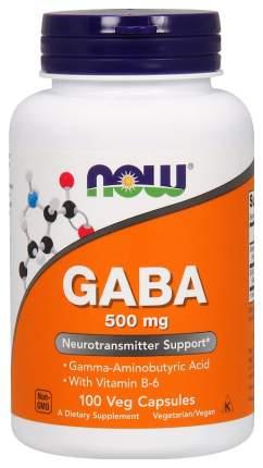 Добавка для нервной системы, бустер тестостерона NOW Gaba 100 капс.