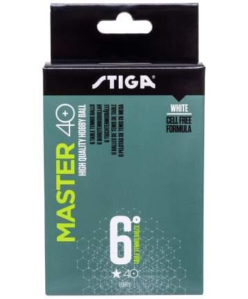 Мячи для настольного тенниса Stiga 1* Master ABS белые, 6 шт.