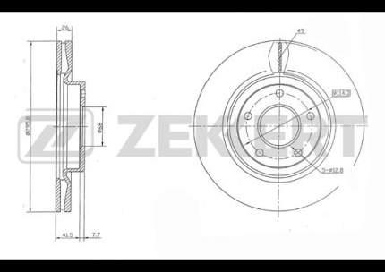 Тормозной барабан ZEKKERT BS-5459