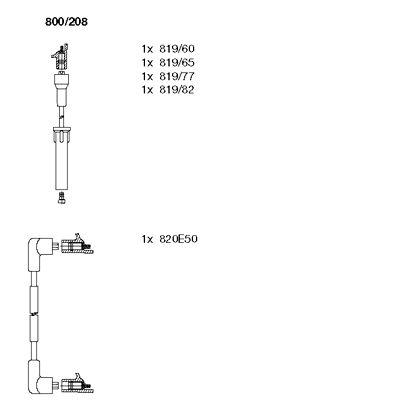 Комплект проводов зажигания BREMI 800/208