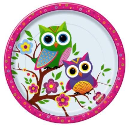 Тарелка картонная Bulgaree Green совы d-23 см 10 шт