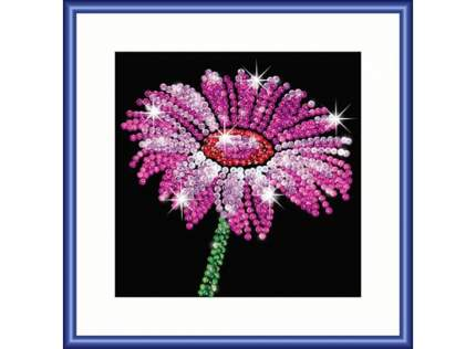 Мозаика из пайеток KSG Sequin Art Цветок фокус