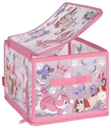Ящик для хранения игрушек Valiant Киски и собачки KCCD-ZIP-L