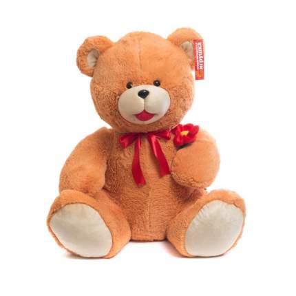 Мягкая игрушка Медведь цветной с цветком 85 см Нижегородская игрушка См-246-ц-5