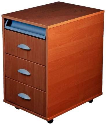Тумбы выкатная на 3 ящика + выдвижной пластиковый пенал (ТУВ-02) (цвет товара: яблоня)