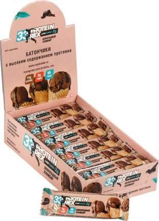 """Батончик с высоким содержанием протеина ProteinRex """"шоколадный пломбир"""", 18 шт по 35г"""