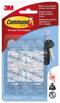 3M Крючок для ключей Command® прозрачный 6 шт (17006CLR)