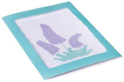Вышивка лентами Bondibon фиолетовые цветы вв2641