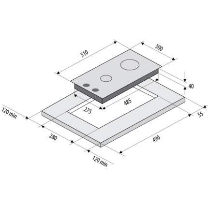 Встраиваемая варочная панель газовая Fornelli PGA 30 QUADRO IX Silver