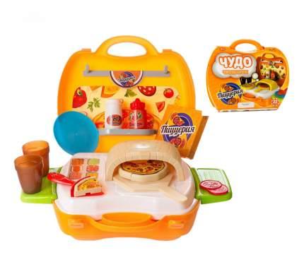 Детская кухня ABtoys Чудо-чемоданчик Пиццерия 22 предмета