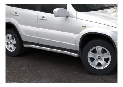 Защита порогов RIVAL для Chevrolet (R.1004.008)